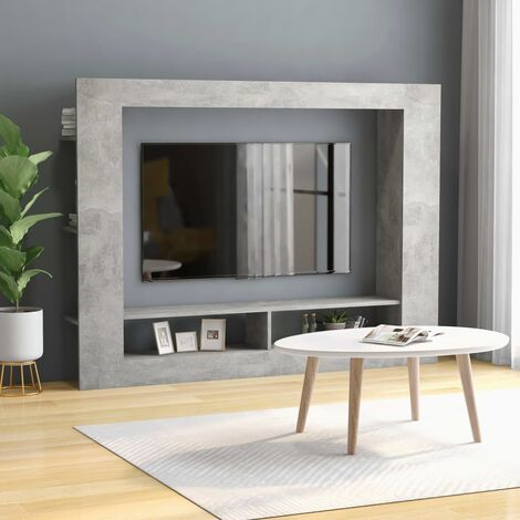 """main image of """"TV Cabinet Concrete Grey 152x22x113 cm Chipboard35661-Serial number"""""""