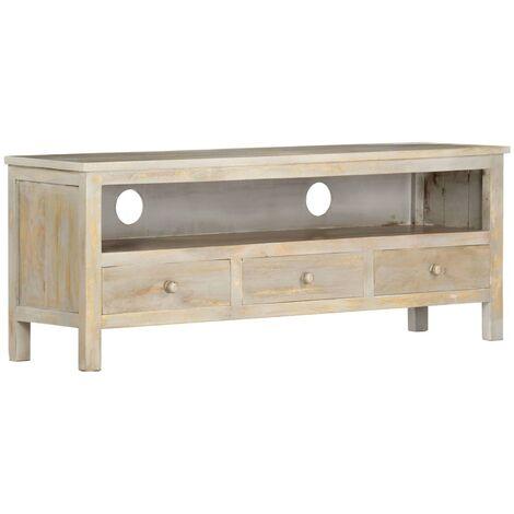 TV Cabinet Grey 120x30x45 cm Solid Mango Wood