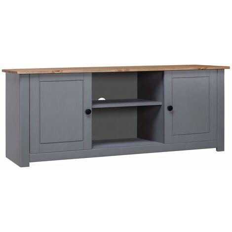 TV Cabinet Grey 120x40x50 cm Solid Pine Wood Panama Range