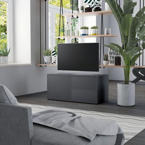 TV Cabinet Grey 80x34x36 cm Chipboard