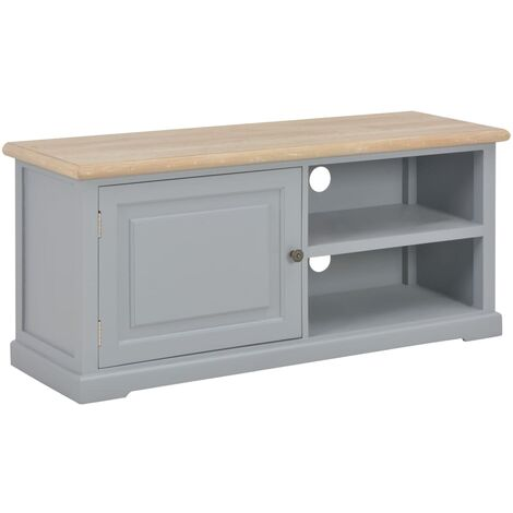 TV Cabinet Grey 90x30x40 cm Wood