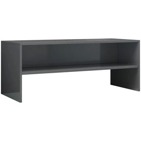 TV Cabinet High Gloss Grey 100x40x40 cm Chipboard