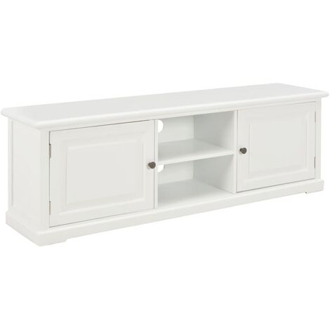 TV Cabinet White 120x30x40 cm Wood