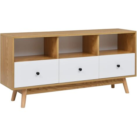 TV Cabinet White 120x30x58 cm MDF
