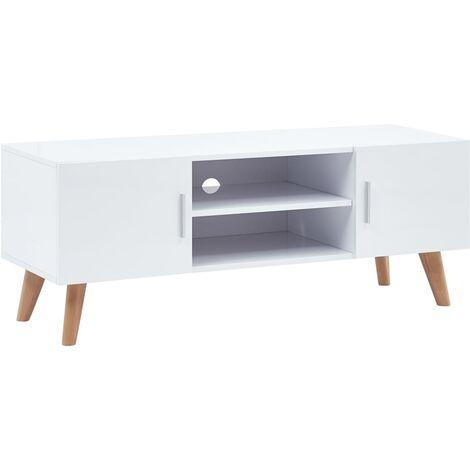 TV Cabinet White 120x40x46 cm MDF