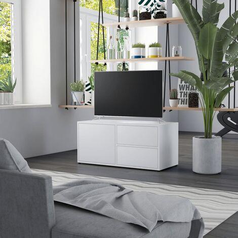 TV Cabinet White 80x34x36 cm Chipboard
