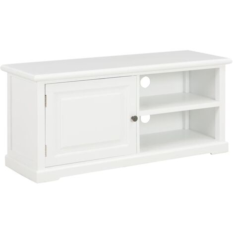 TV Cabinet White 90x30x40 cm Wood