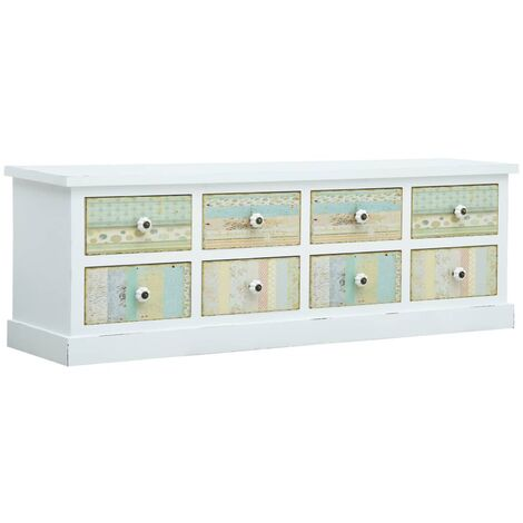 TV Cabinet with Drawers White 120x30x40 cm MDF