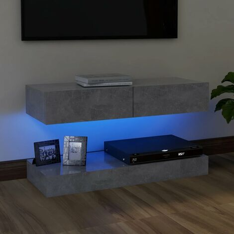"""main image of """"TV Cabinet with LED Lights Concrete Grey 90x35 cm37119-Serial number"""""""