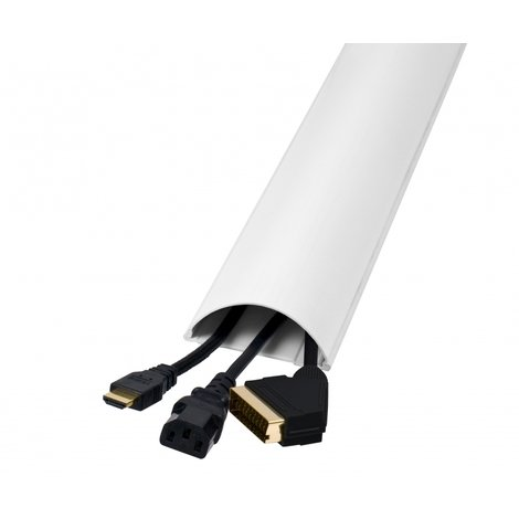 TV Cable Management Sleeve, Adjustable Cable Tidy Wrap, Easy use, Adjustable, 180cm long, Trunking Cutable and Paintable. 1 piece Reusable Durable Cable Ties