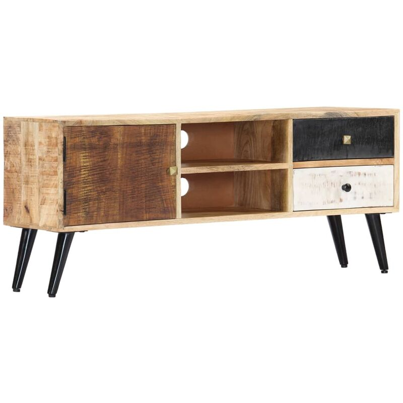 Vidaxl - TV-Schrank 115×30×47 cm Mango-Massivholz
