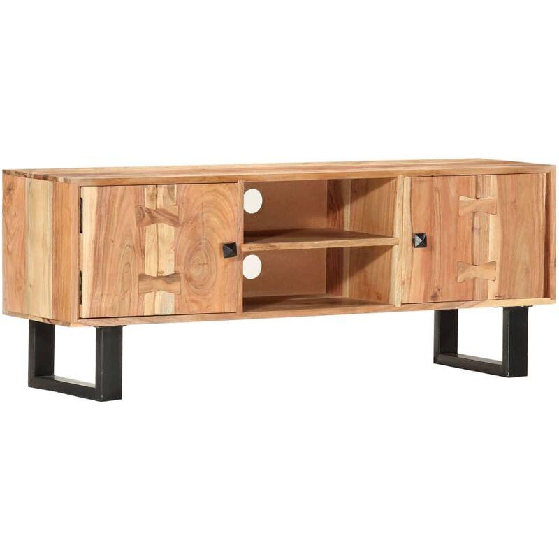 Zqyrlar - TV-Schrank 118 x 30 x 45 cm Massivholz Akazie