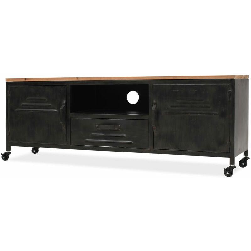 Zqyrlar - TV-Schrank 120 x 30 x 43 cm Schwarz