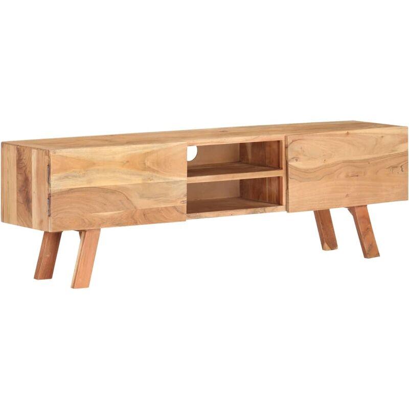 Zqyrlar - TV-Schrank 140×30×45 cm Massivholz Akazie