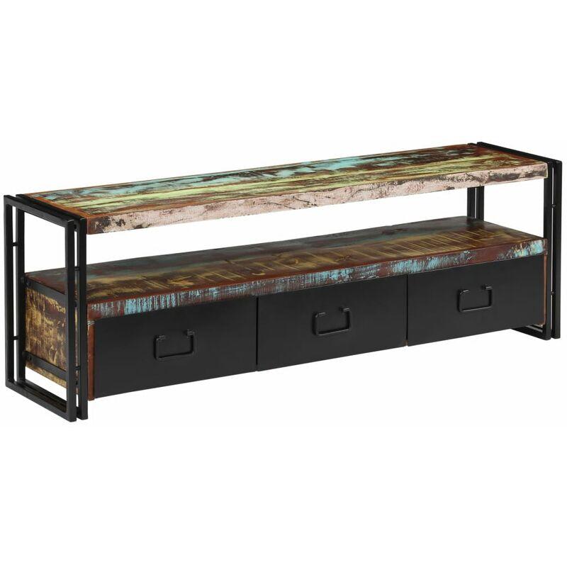 Zqyrlar - TV-Schrank Altholz Massiv 120 x 30 x 40 cm