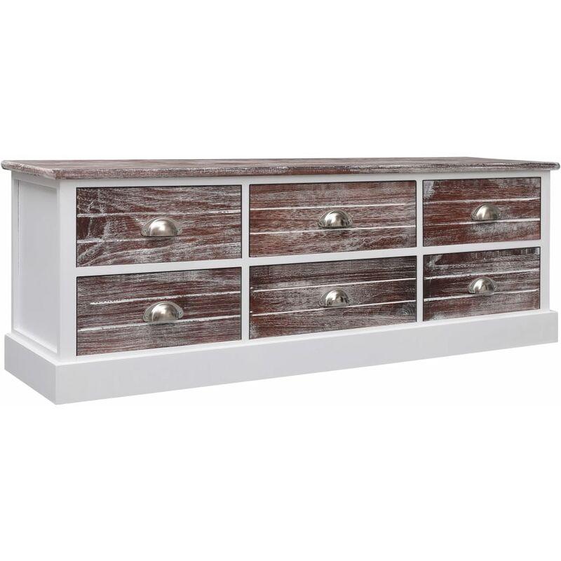 Zqyrlar - TV-Schrank Braun 115x30x40 cm Holz