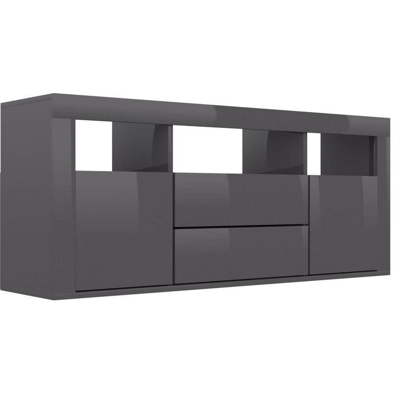Vidaxl - TV-Schrank Hochglanz-Grau 120 x 30 x 50 cm Spanplatte