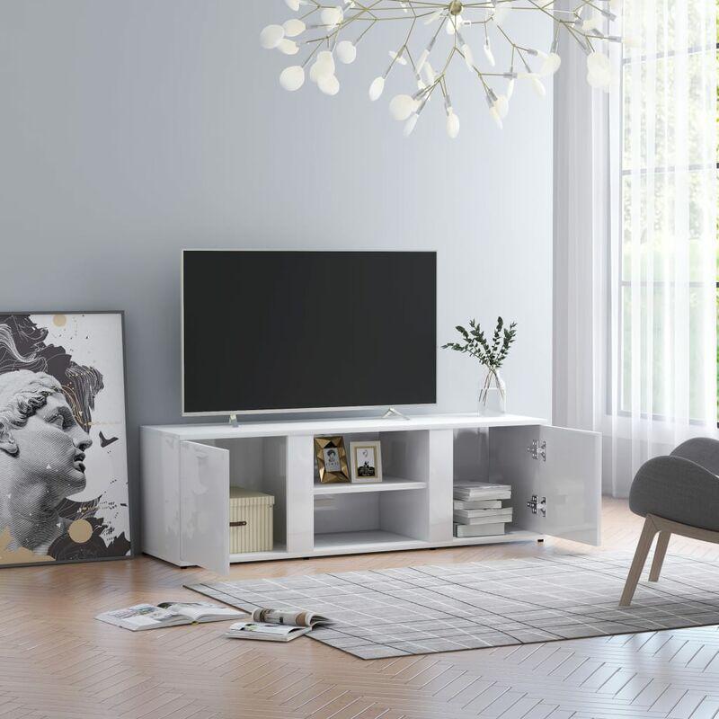 Zqyrlar - TV-Schrank Hochglanz-Weiß 120 x 34 x 37 cm Spanplatte