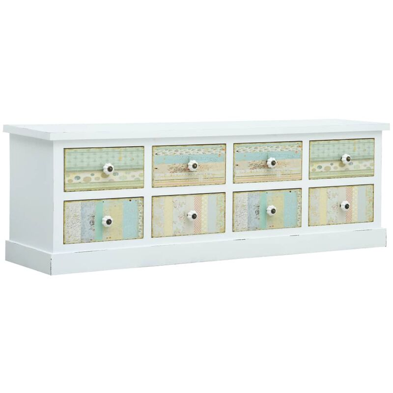 Zqyrlar - TV-Schrank mit Schubladen Weiß 120 x 30 x 40 cm MDF