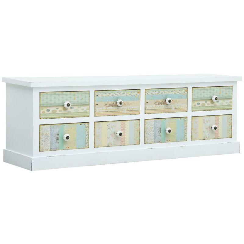 TV-Schrank mit Schubladen Weiß 120 x 30 x 40 cm MDF