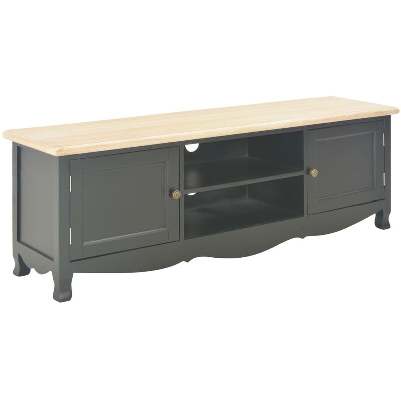 Zqyrlar - TV-Schrank Schwarz 120×30×40 cm Holz