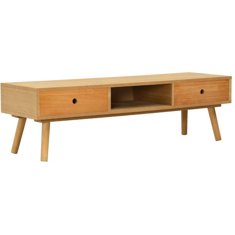 TV-Schrank 120x35x35cm Massivholz Kiefer - VIDAXL