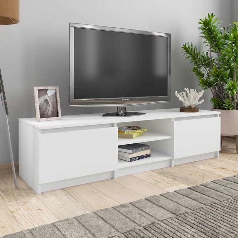 Zqyrlar - TV-Schrank Weiß 140×40×35,5 cm Spanplatte