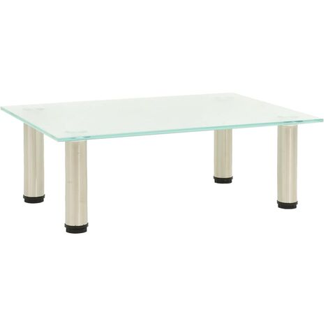 TV Stand Frosted 40x35x17 cm Tempered Glass