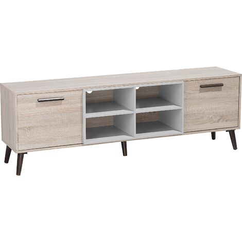 TV Stand Light Wood with Grey ALLOA