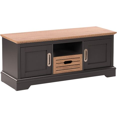 TV Stand Light Wood with Grey GARET