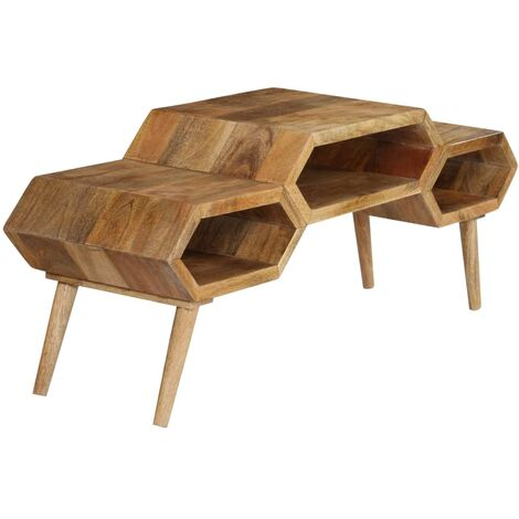TV Stand Solid Mango Wood 119x35x45 cm -