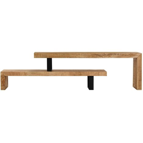 TV Stand Solid Mango Wood - 247321-UK