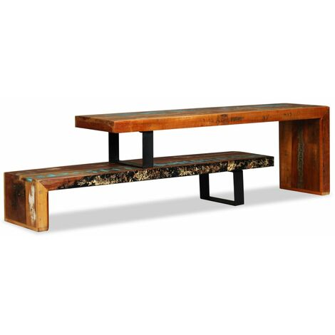 TV Stand Solid Reclaimed Wood - 244582-UK