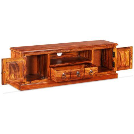 TV Stand Solid Sheesham Wood 120x30x40 cm -
