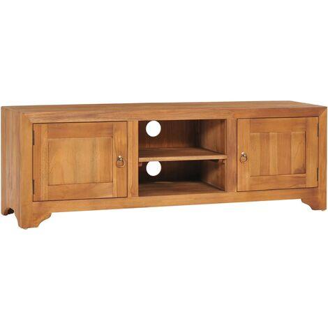 TV Unit 120x30x40 cm Solid Teak Wood