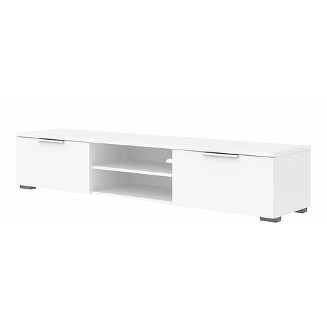 "main image of ""TV Unit 2 Drawers 2 Shelf in White High Gloss"""
