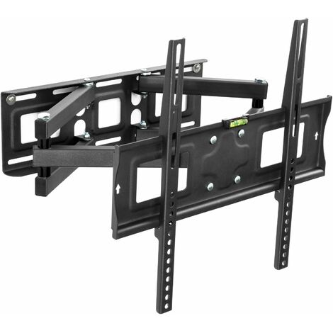 TV wall mount for 26-55″ (66-138cm) can be tilted and swivelled spirit level - bracket TV, wall tv mount, tv on wall bracket - black