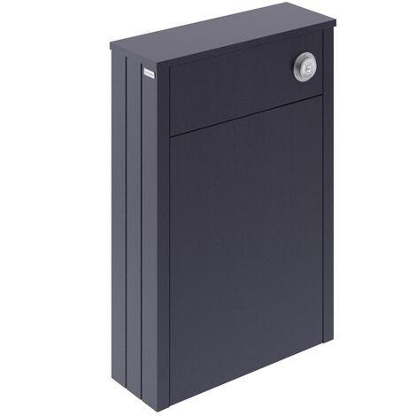 Twilight Blue Traditional Concealed Cistern Toilet Unit WC 550x205mm MDF