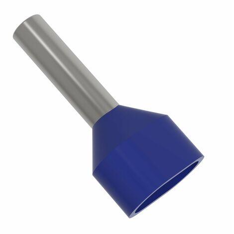 Aderendhülsen isoliert 50,0 qmm blau Intercable                         50 Stück