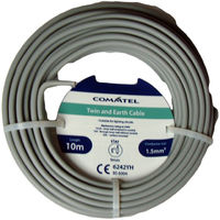 Twin and Earth Cable 10M Commtel Twin and Earth Cable 10m 1.5mm T&E Electrical