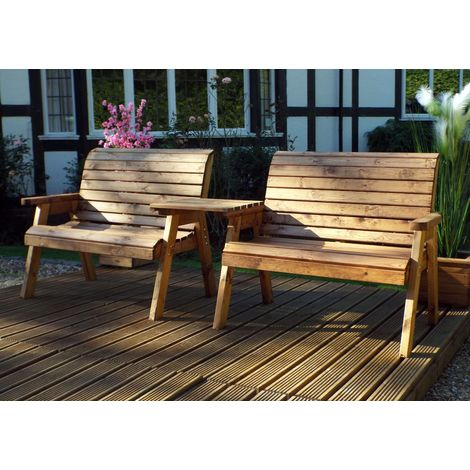 Twin Bench Set with Straigtht Tray HB115B