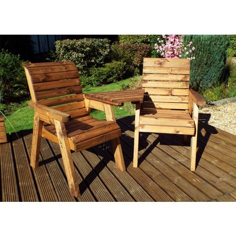 Twin Companion Set, Angled, Garden Loveseat, Fully Assembled