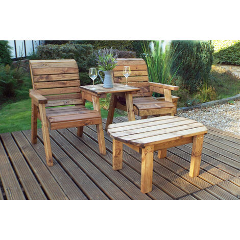 Twin Companion Set Dining - Straight. Quality Wooden Garden Furniture, fully assembled