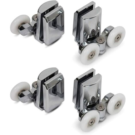 Twin for Shower Door Rolls Riders of 4 - Superior and Lower (2Top + 2Bottom) (25mm)