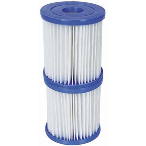 Twin Pack Bestway Size II Filter Cartridges for Pools & Lay-Z-Spas 2x Twin Pack