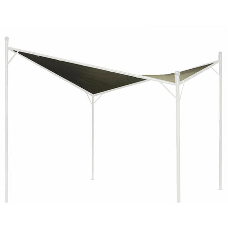 Twin Sail Gazebo Canopy 3x3m Grey