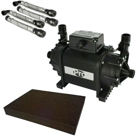 Twin Shower Pump 1.5 Bar Watermill Wasp 50 Grundfos Niagara + Hoses + Mat