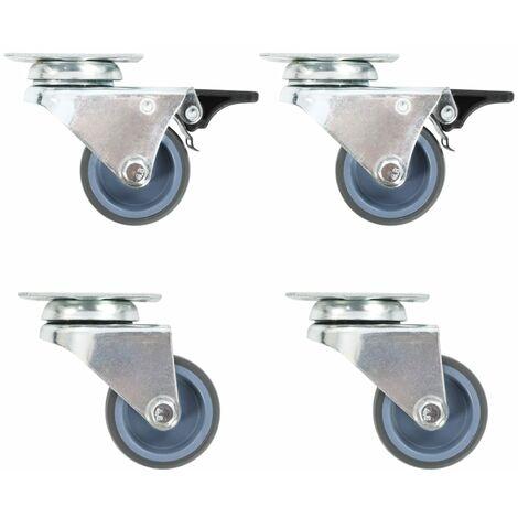 Twin-wheel Swivel Casters 4 pcs 50 mm