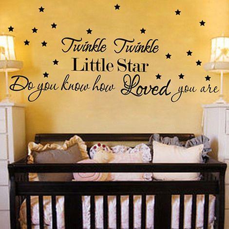 Twinkle Twinkle Little Star Amovible Sticker Autocollant Art Mural Maison DšŠco