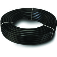 Twinwall Electric Cable Ducting 50/63mm x 50m Coil Black